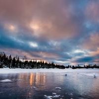 Ice Reflection, Blackstone Lake